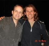 Matthew with Steve Linder