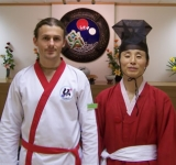 Matthew Armstrong with Master Oh