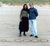 Matthew Armstrong with his sister Liza